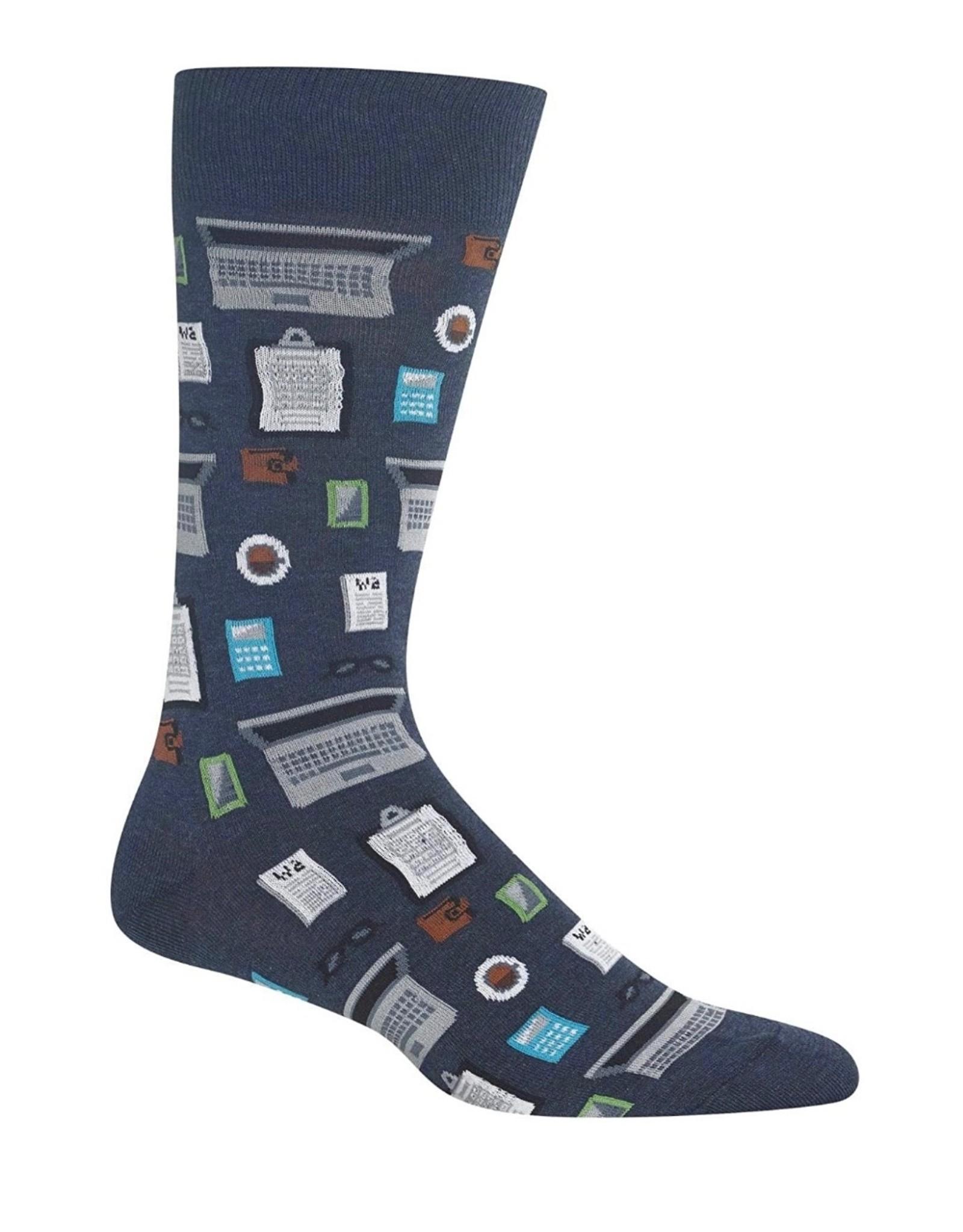 Hotsox Hotsox Men's Accountant Crew Socks HM100782