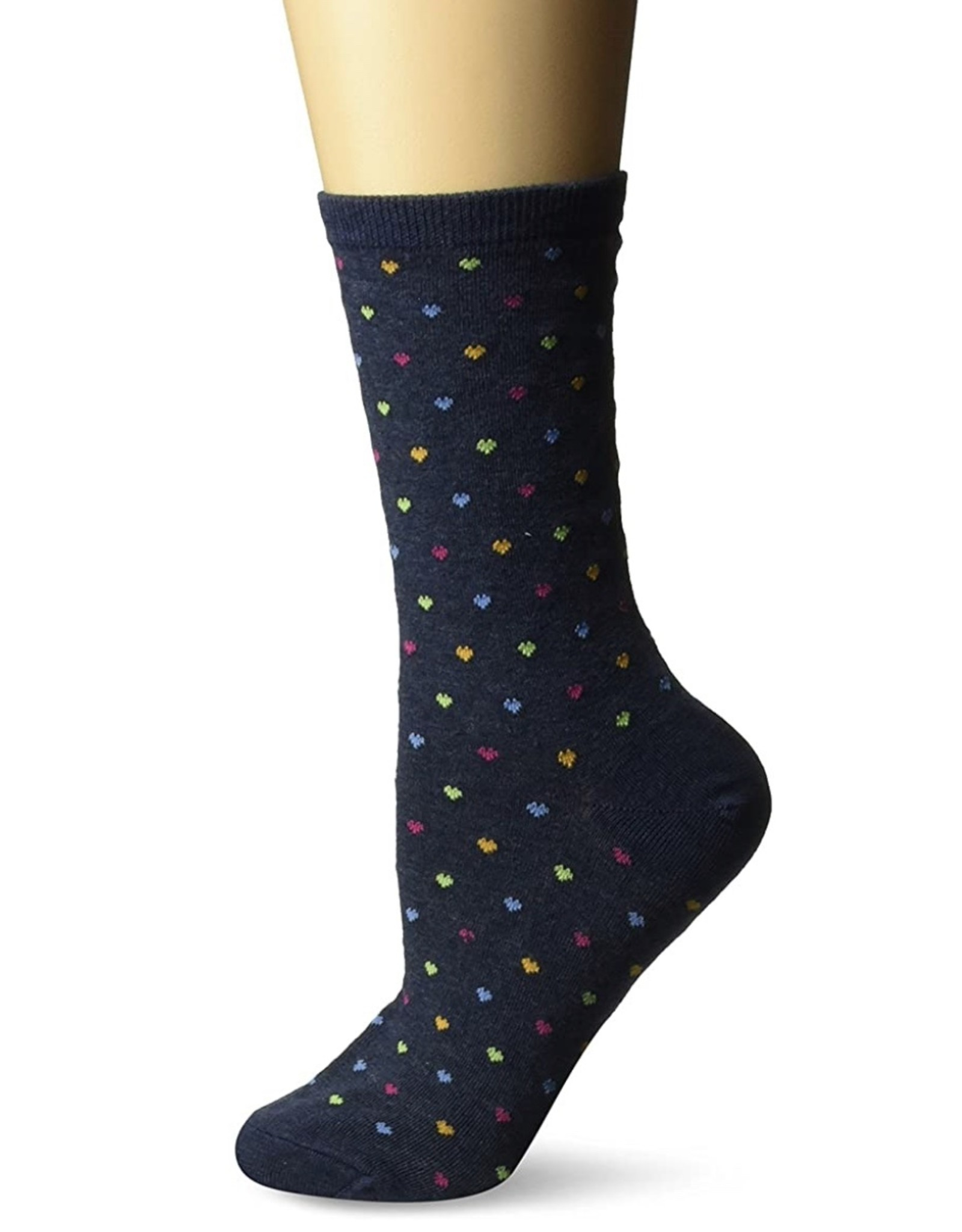 Hotsox Hotsox Women's Pin Dot Heart Socks HO000096