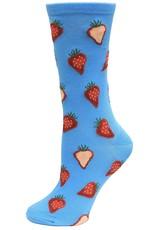 Hotsox Hotsox Women's Strawberry Slices Crew Socks HSW10065