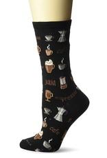 Hotsox Hotsox Women's Coffee Crew Socks HO000504