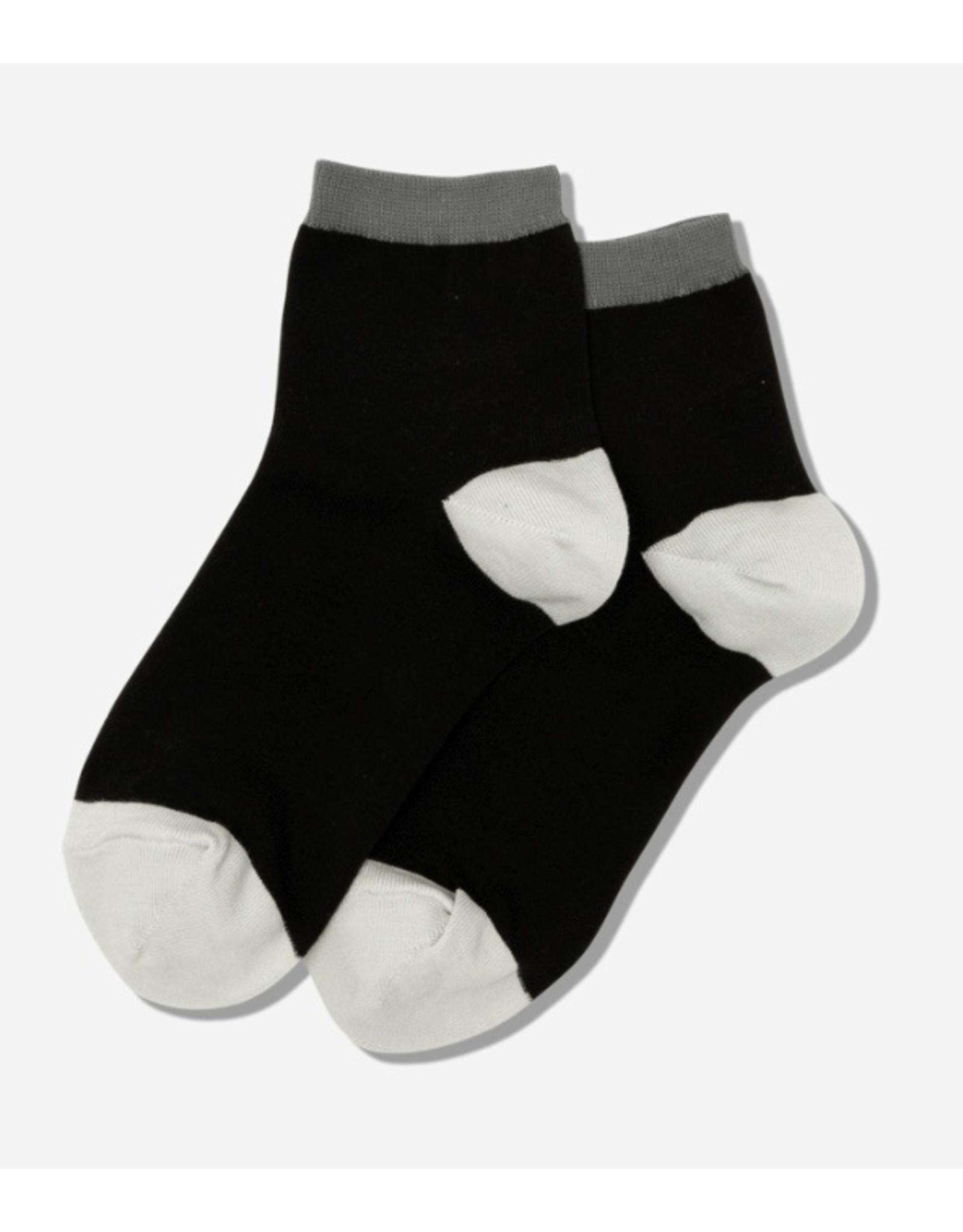Hotsox Hotsox Women's Contrast Cuff Anklet Socks HSW300101