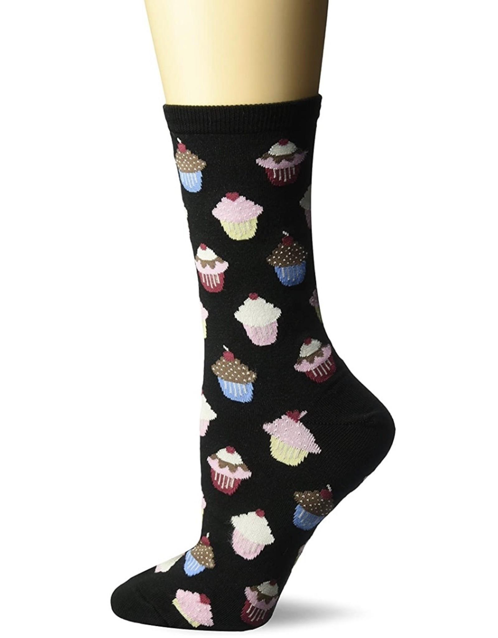 Hotsox Hotsox Women's Cupcakes Crew Socks HO000011