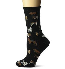 Hotsox Hotsox Women's Classic Dogs Crew Socks HO000093