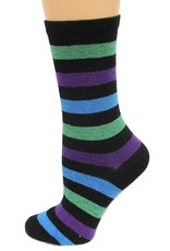 Hotsox Hotsox Cashmere Bold Stripes Crew Socks HC300117