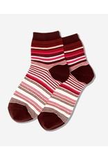 Hotsox Hotsox Women's Variegated Stripe Anklet Socks HSW30009