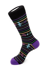 Unsimply Stitched Unsimply Stitched Men's Musical Note Stripe Socks