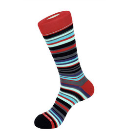 Unsimply Stitched Unsimply Stitched Men's Open Stripe Socks