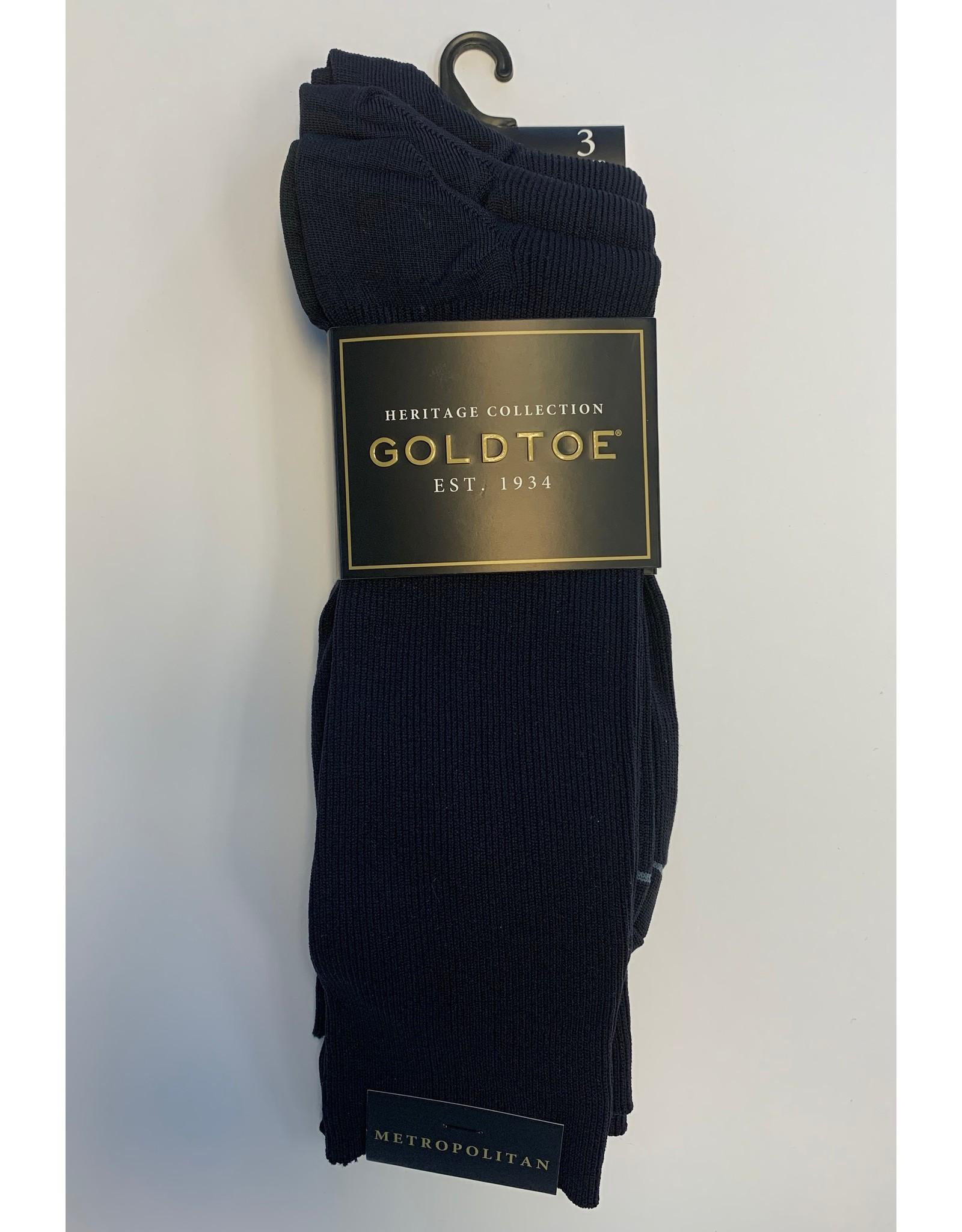 Goldtoe Goldtoe Men's Metropolitan Reinforced Toe Socks - 3 Pack 101S