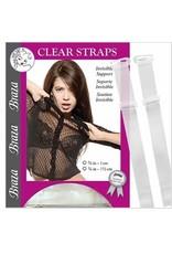 Braza Braza Women's Clear Straps 5/8 in-1.5 cm