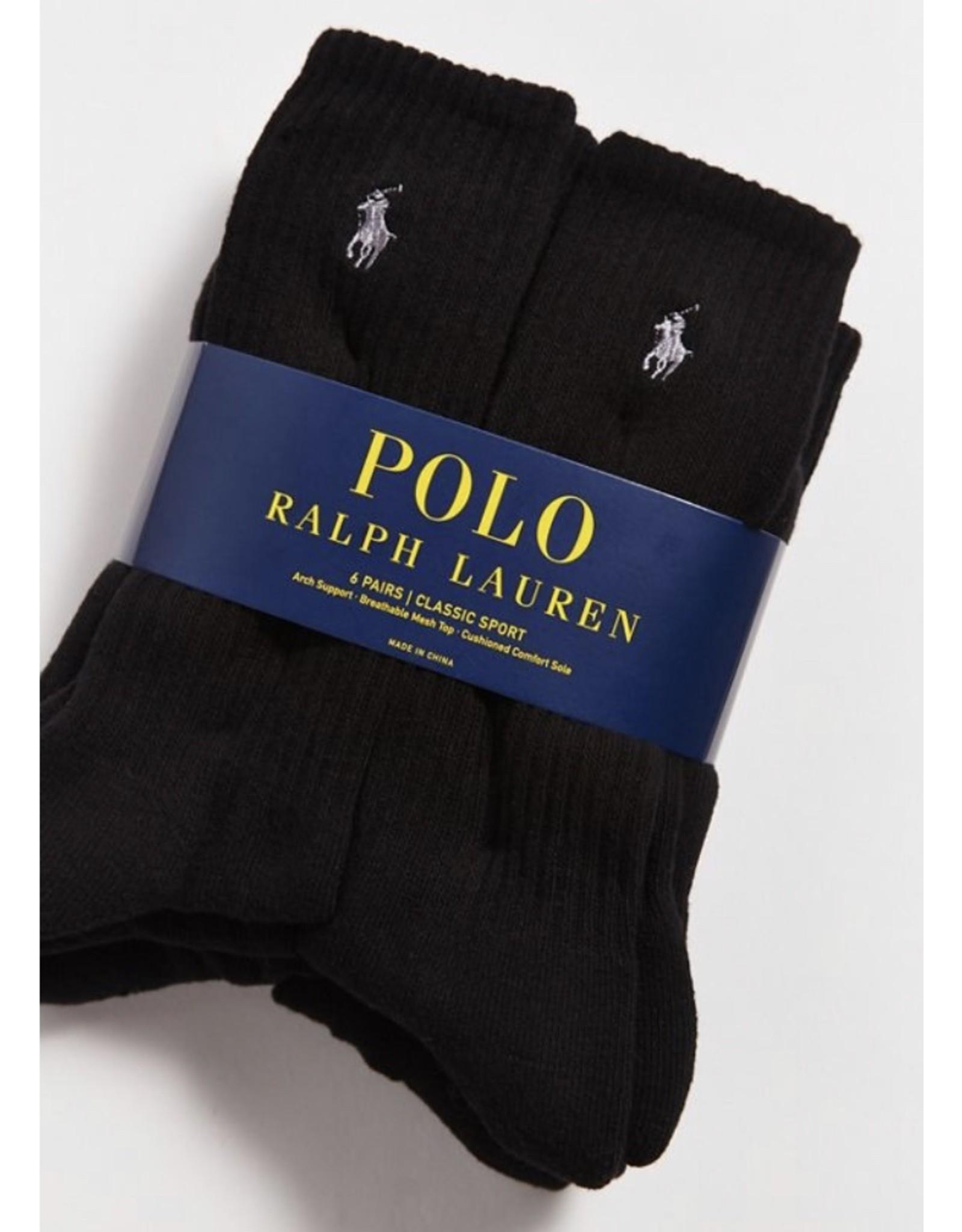 Polo Ralph Lauren Polo Ralph Lauren Men's Crew Cotton Sport Socks 6-Pack