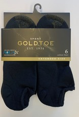 Goldtoe Goldtoe Extended Size Men's Cotton Athletic No Show Socks 6-Pack