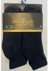 Goldtoe Goldtoe Extended Size Men's Cotton Athletic Quarter Socks 6-Pack