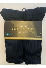 Goldtoe Goldtoe Extended Size Men's Cotton Athletic Crew Socks 6-Pack