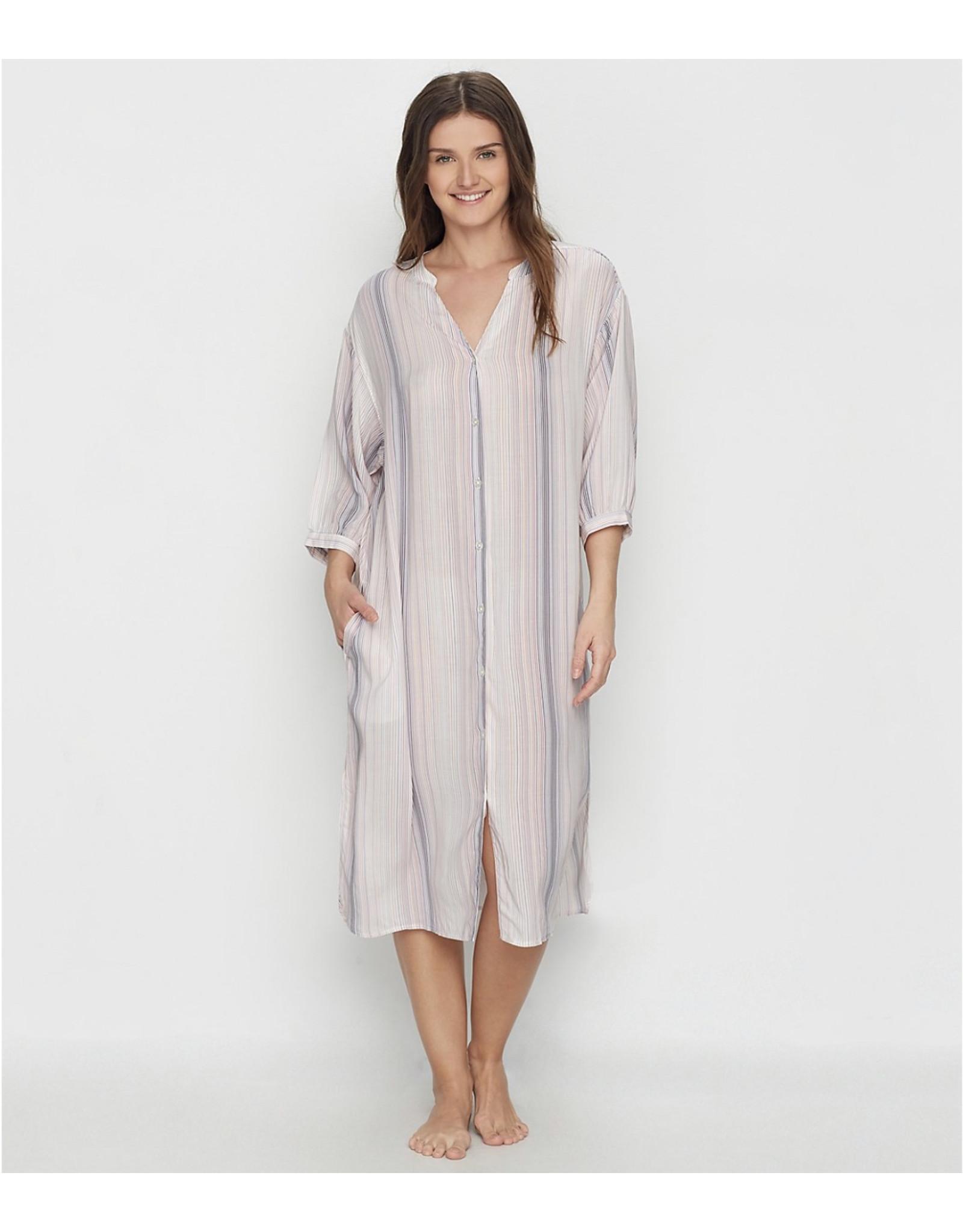 Donna Karan Donna Karan Maxi Woven Lounge Dress with Pockets