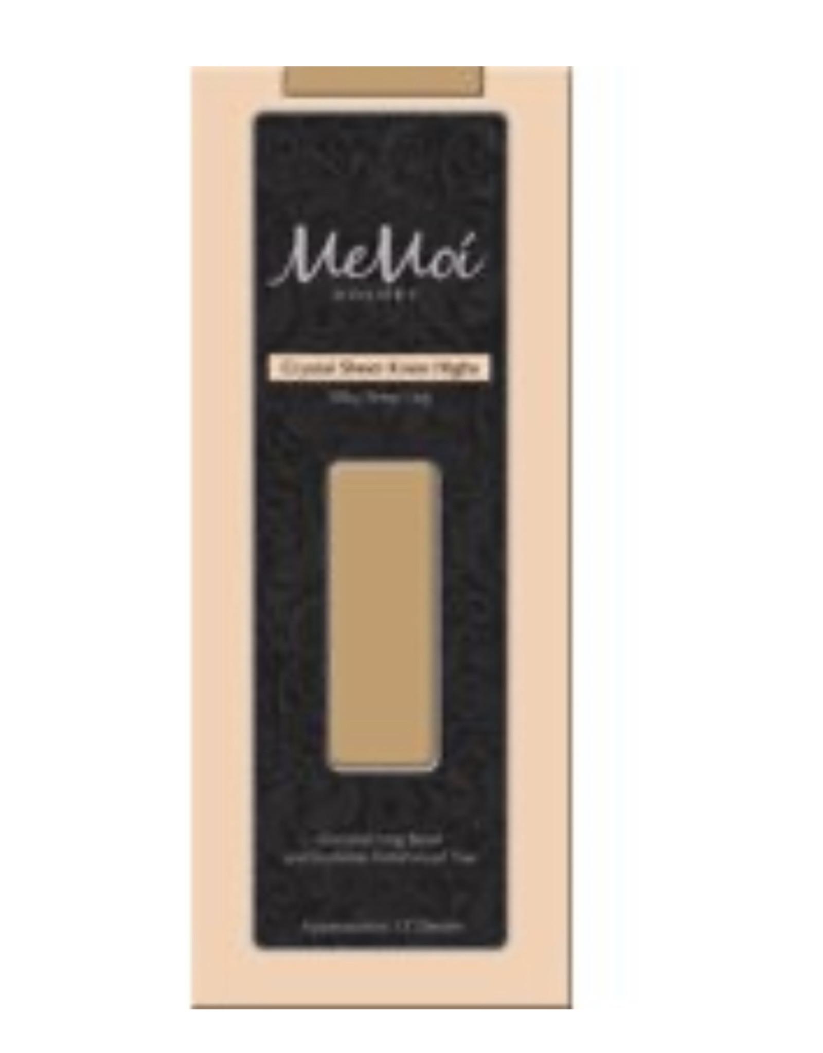 Memoi Memoi Women's Crystal Sheer Knee High MS-709