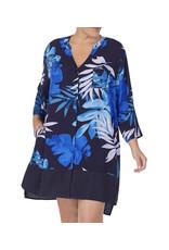 Donna Karan Donna Karan Palm Printed Woven Shirt Dress