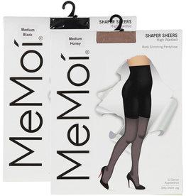 Memoi Memoi Women's High Waisted 12 Denier Body Slimming Pantyhose MM-228