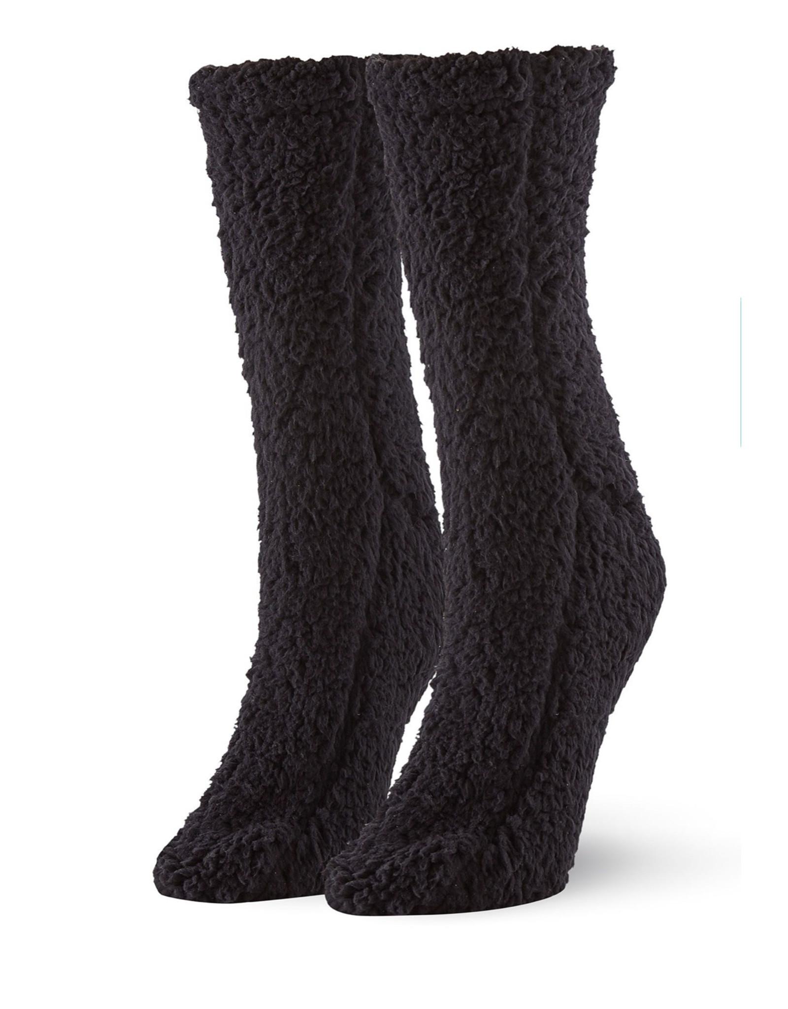 Hue Hue Women's Furry Slipper Sock U20728