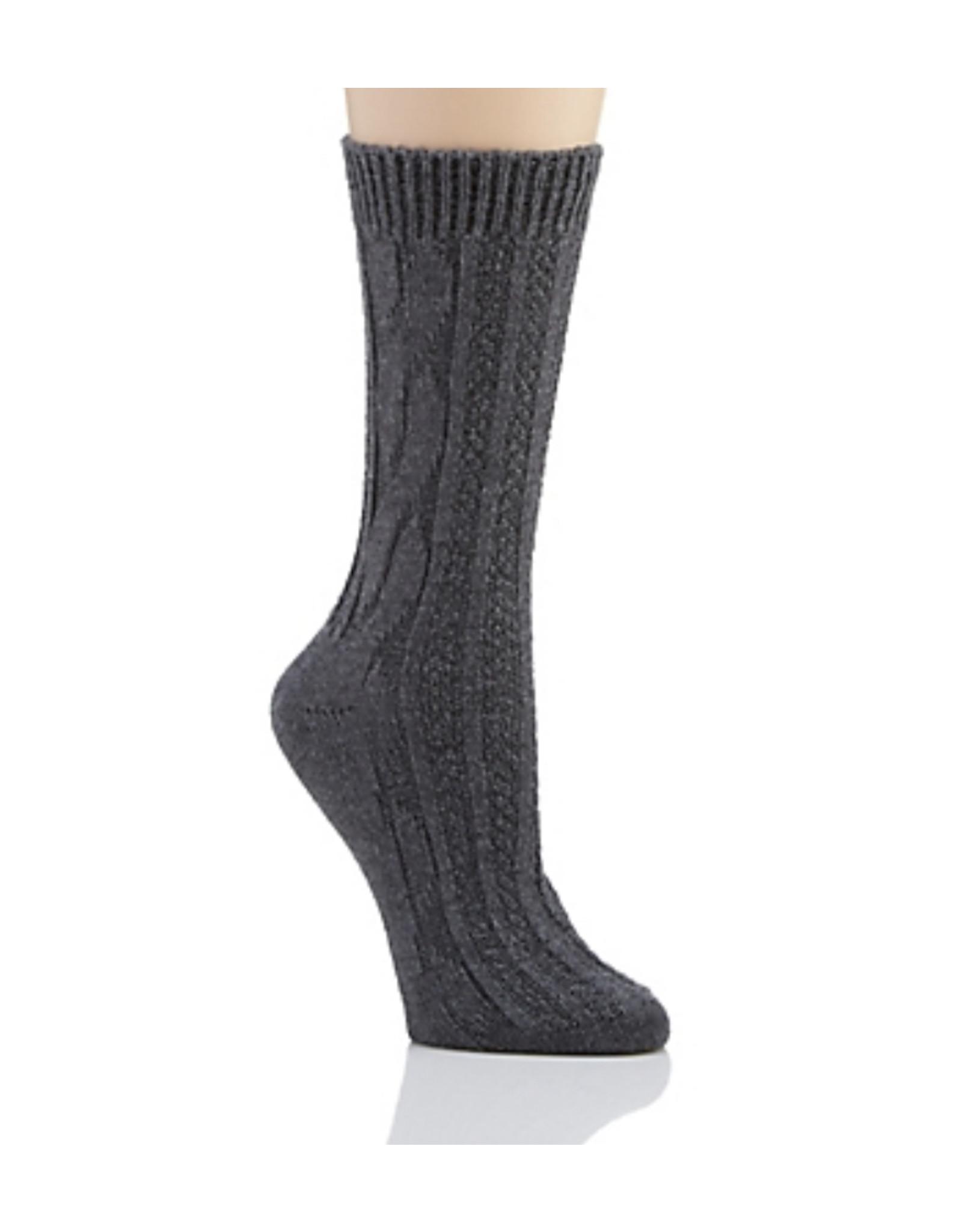 Hue Hue Cable Boot Sock U22059