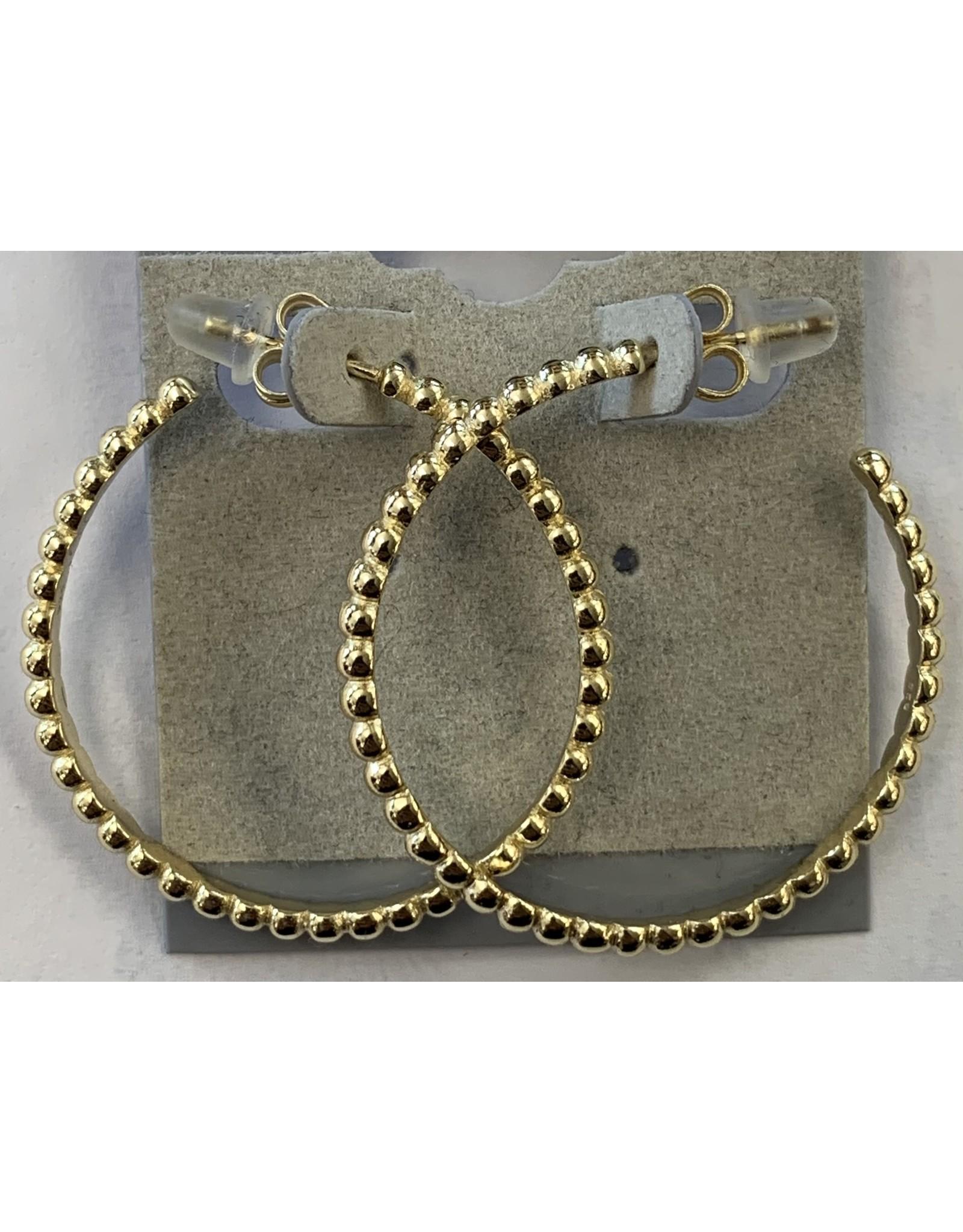 Sox World Plus Sterling Silver Diamond Solitaire Hoop Earrings