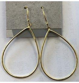 Sox World Plus Sterling Silver Classic Hanging Hoop Earrings