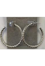 Sox World Plus Sterling Silver Classic Everyday Hoop Earrings