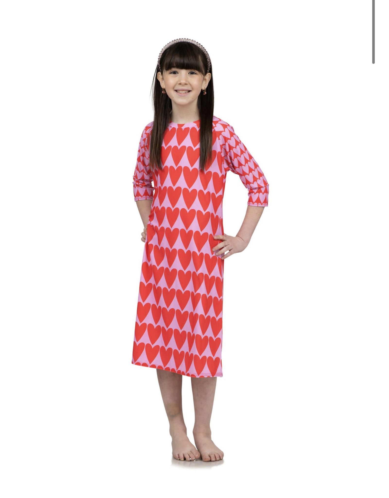 Undercover Waterwear Undercover Waterwear Kids Heart  Swim Dress