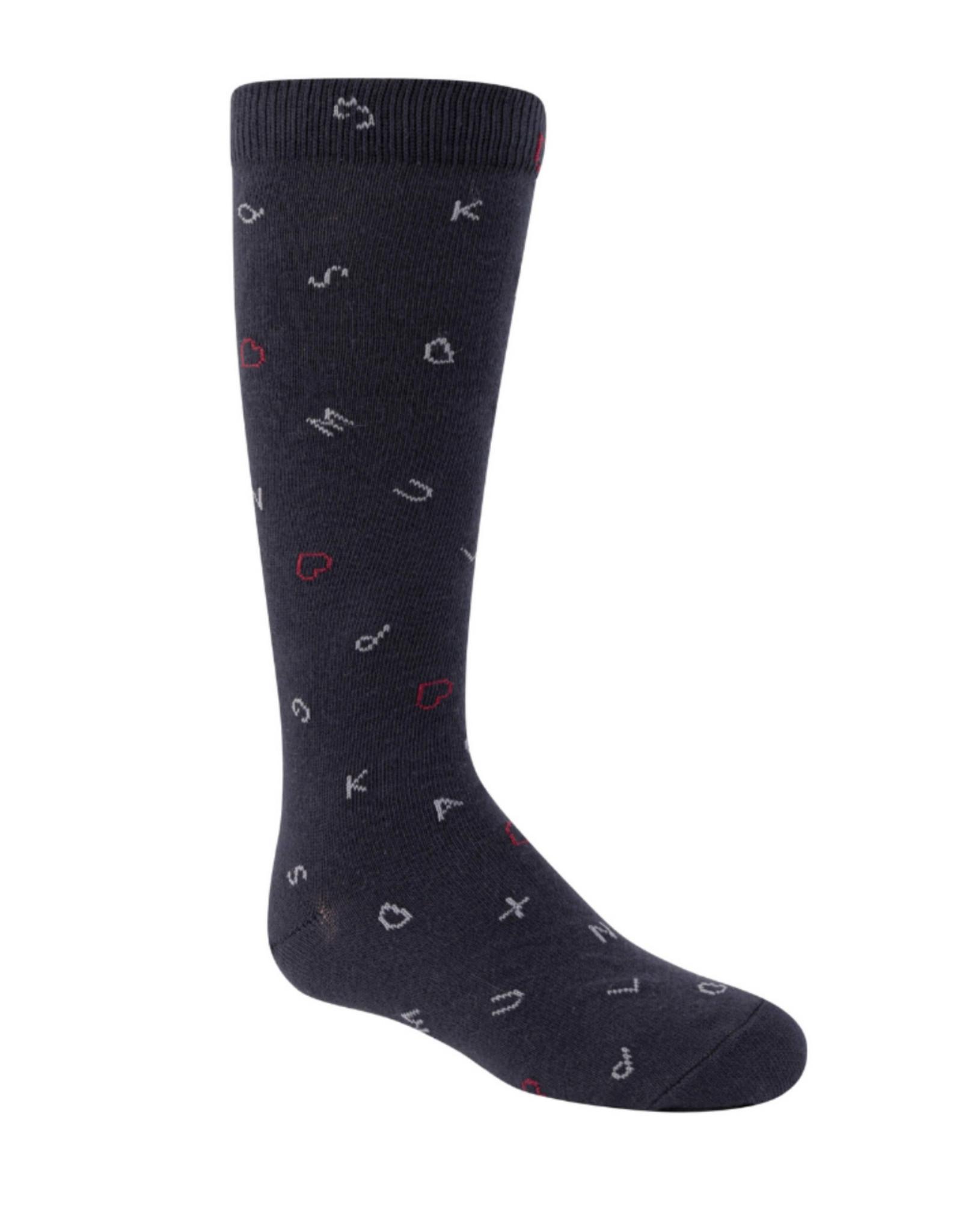 JRP JRP Girls Blackboard Knee Socks