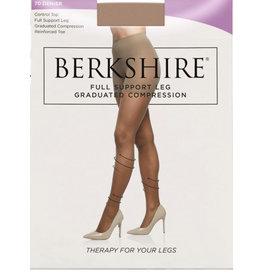 Berkshire Berkshire Women's Full Support 70 Denier Compression Control Top Pantyhose 8100