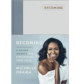 Notebook/Journal Becoming: A Guided Journal for Discovering your Voice by Michelle Obama