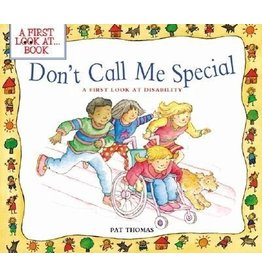 Books Don't Call Me Special  by Pat Thomas (DWS)