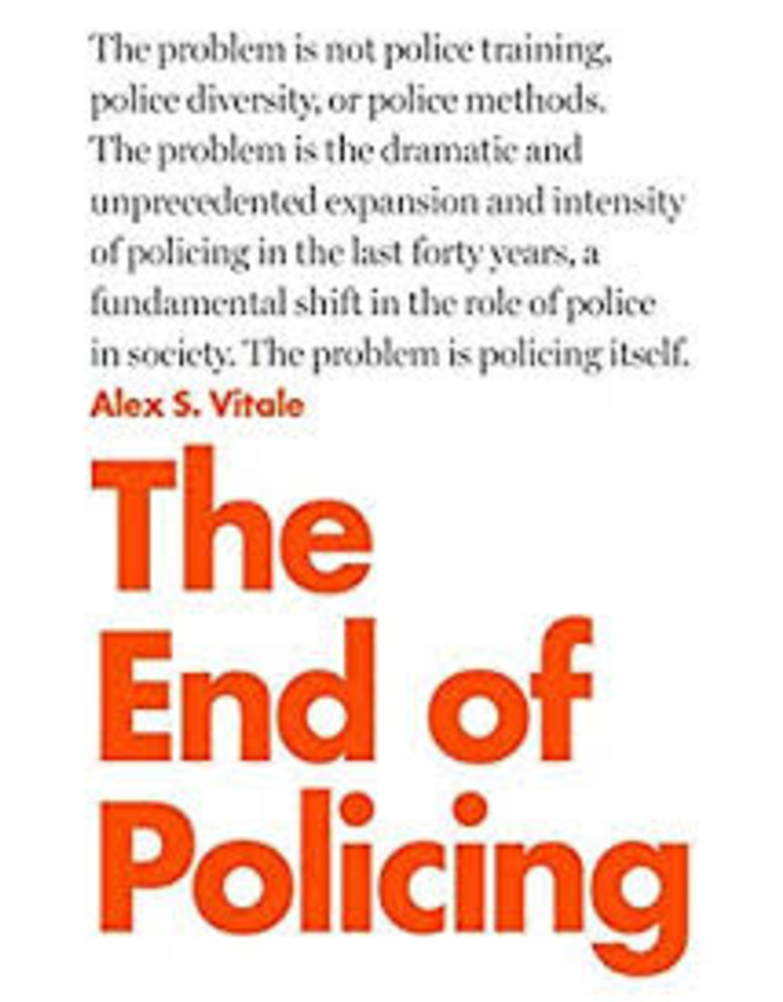 Books The End of Policing by Alex Vitale