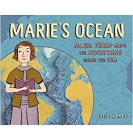 """Books Marie's Ocean"""" Marie Tharp Maps the Mountains Under the Sea by Josie James"""