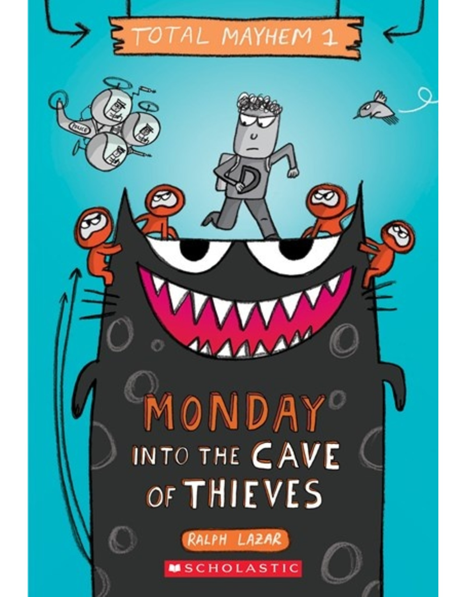 Books Total Mayhem #1 Monday into the Cave of Thieves by Ralph Lazar (Holiday Catalog 21)