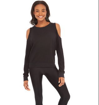 Terez Terez Cold Shoulder Foil