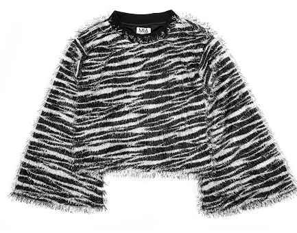 Mia New York Mia Zebra Fringe Top