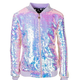 Lola and the Boys Cotton C Sequin Bomber