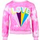 Lola and the Boys Love Tie Dye Sweatshirt