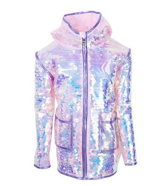 Lola and the Boys Pailette Magic Rain Jacket