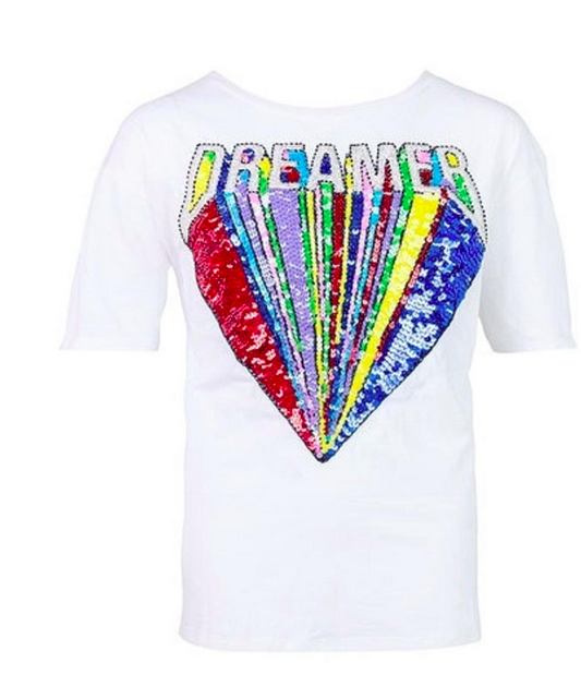 Lola and the Boys Sequin Dream Shirt