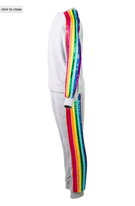 Lola and the Boys Sequin Rainbow Tracksuit Set