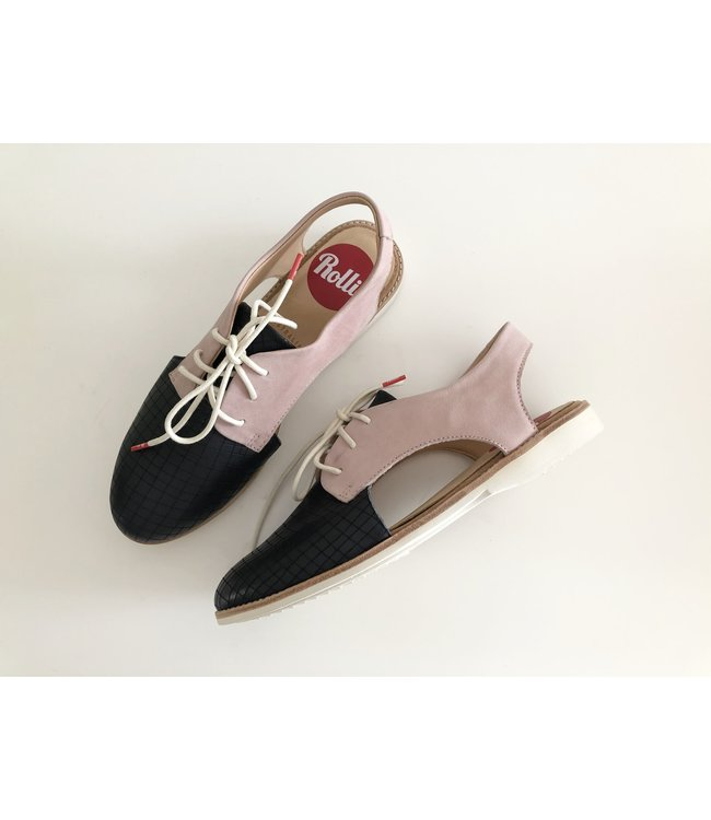 Rollie Slingback Navy/Pink Shoes