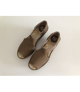 Fly London Brown Wedge Sandals