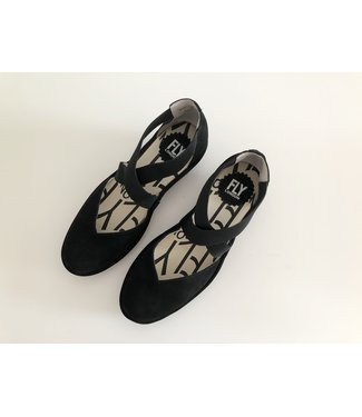 Fly London Black Closed Toe Sandals