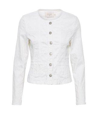 Cream White Denim Jacket