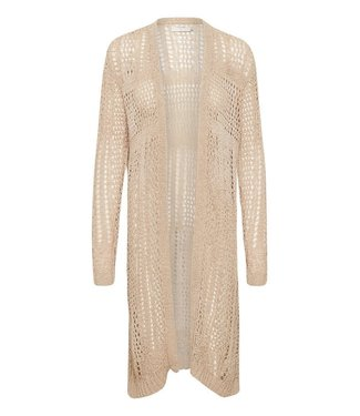 Cream Long Knit Cardigan