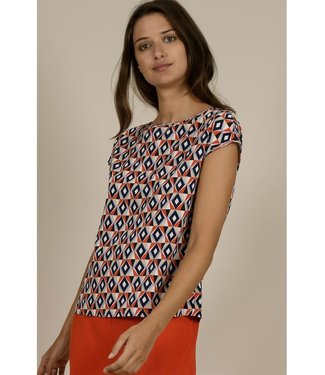 Molly Bracken Geometric Print Top