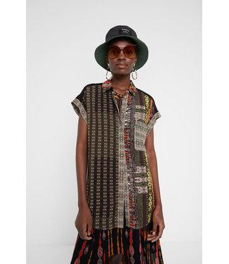 Desigual African Print Blouse