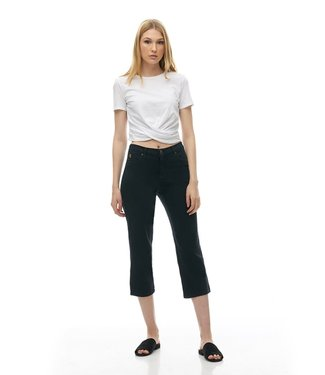 "Yoga Jeans 21"" Inseam - Straight Black Denim"