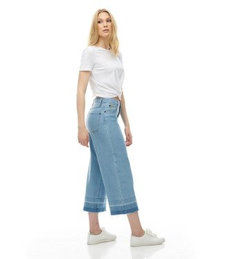 "Yoga Jeans 25"" Inseam Wide Leg - Light Denim"